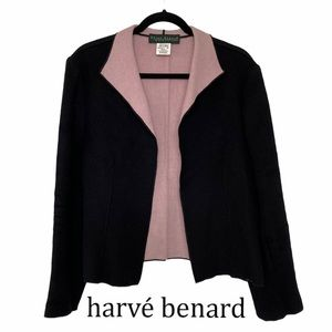 Harve Benard Wool Blend Pink & Black Blazer